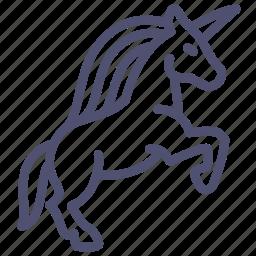 animal, fable, horse, magic, myth, unicorn, virgin icon