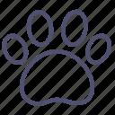 animal, dog, footprint, trace icon