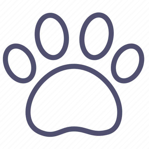 animal, dog, foodprint, trace icon