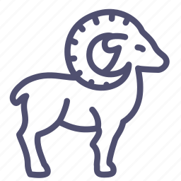 animal, goat, mountain, mutton, ram, sheep icon