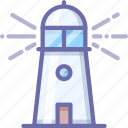 guide, lighthouse, nautical icon