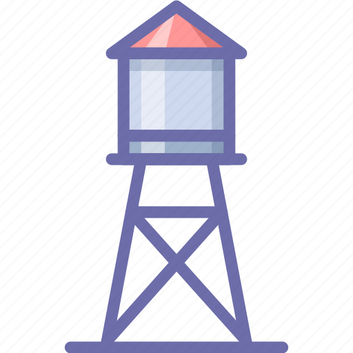 farm, tower, water icon