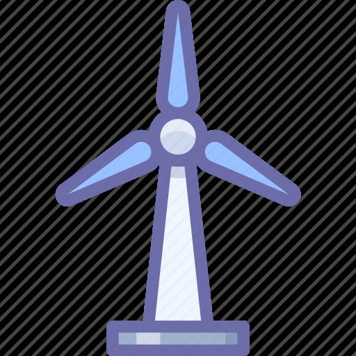 ecology, energy, wind icon
