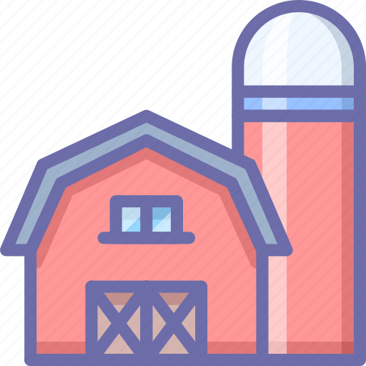 barn, farm, silo icon