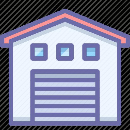 building, garage, warehouse icon