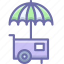 hotdog, icecream, stand, wagon icon