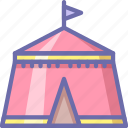 camp, fair, tent icon