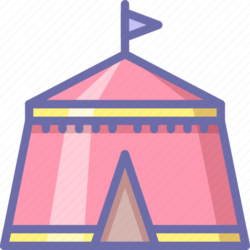 camp, fair, tent icon