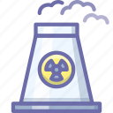 atomic, plant, power icon