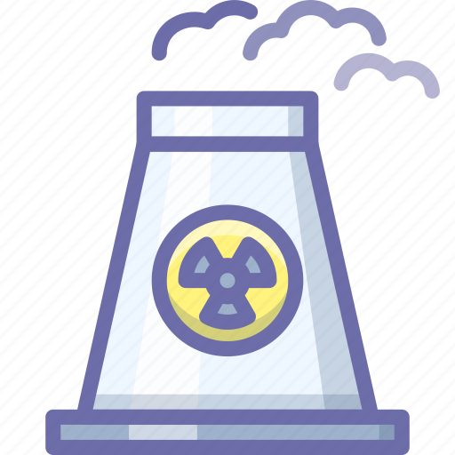 atomic, plant, power icon