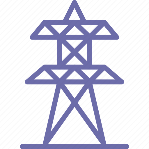 electricity, tower icon