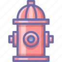 fire, hydrant, water icon