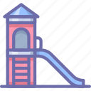 kids, park, slides icon