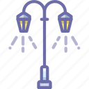 lamp, lantern, light, street icon