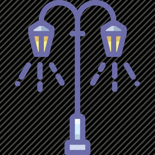 lamp, light, street icon