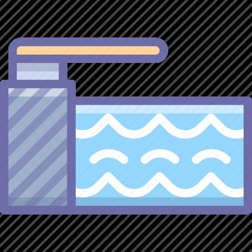 pool, springboard, water icon