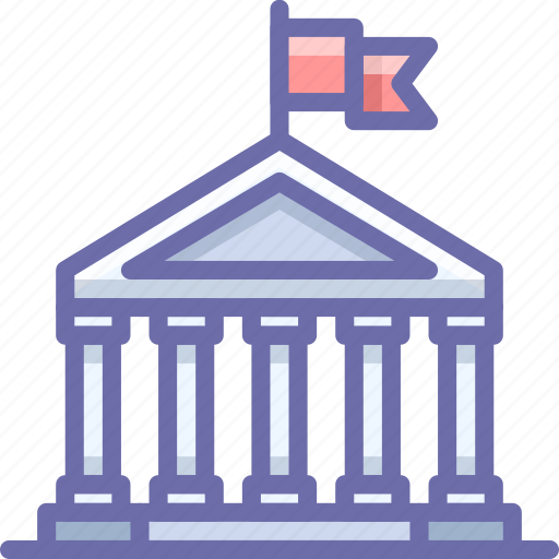 bank, finance, government icon