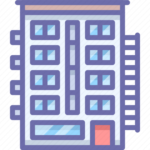 apartment, building, house icon