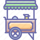 food, hotdog, wagon