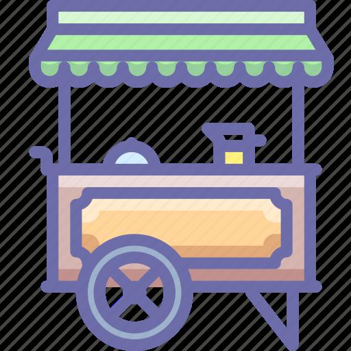 food, hotdog, wagon icon