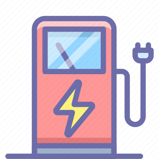 charge, electric, station icon