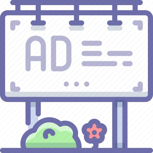 ad, advertising, billboard icon