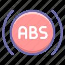 anti, brake, lock, system icon