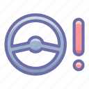 control, malfunction, steering icon