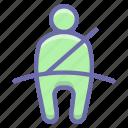 belt, seat, car, buckles icon