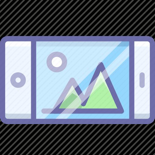 landscape, smartphone icon