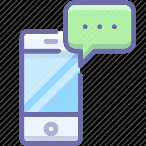 device, message, smartphone icon