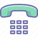 handset, numbers, phone icon