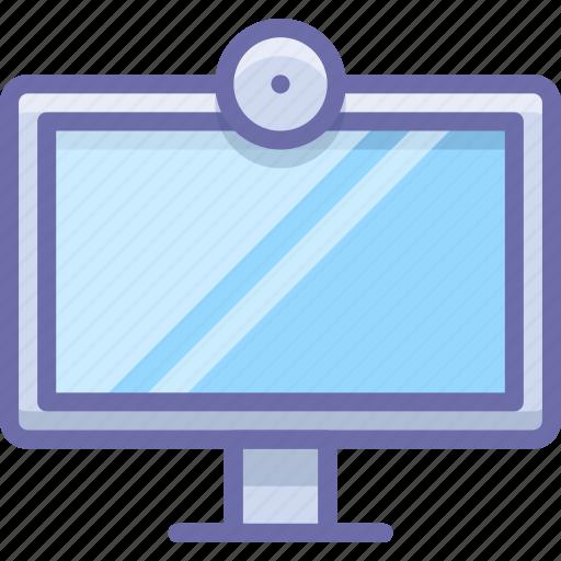 display, stream, webcam icon
