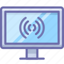 broadcast, channel, connection, hd, internet, tv, wifi icon