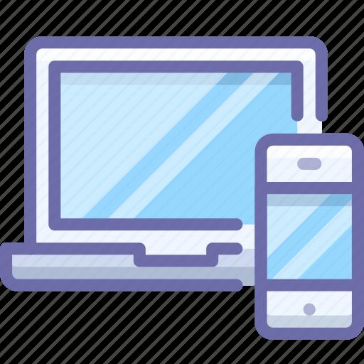 devices, iphone, macbook icon