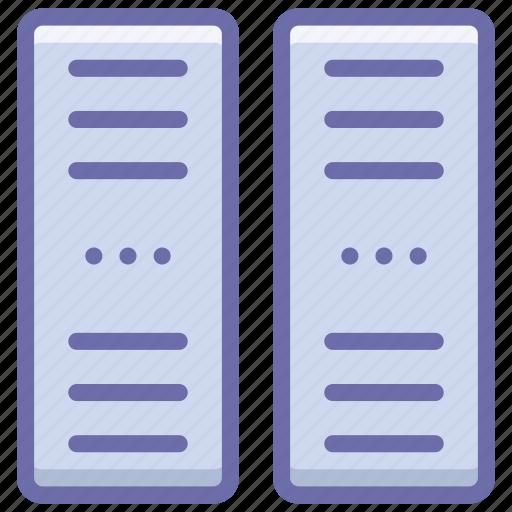 data center, hosting, server icon
