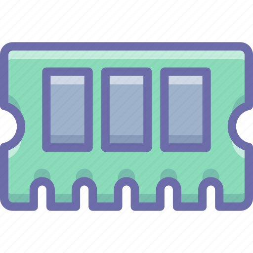 hardware, memory, ram icon