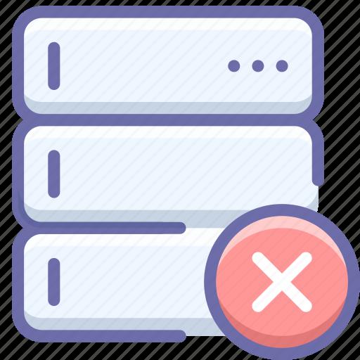 Database, delete, server icon - Download on Iconfinder