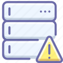 alert, backup, base, data, database, server, warning icon
