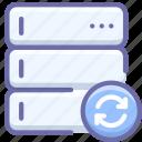 database, server, sync icon