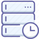 database, server, time icon