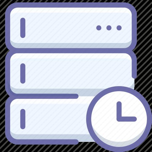 database, server, time icon