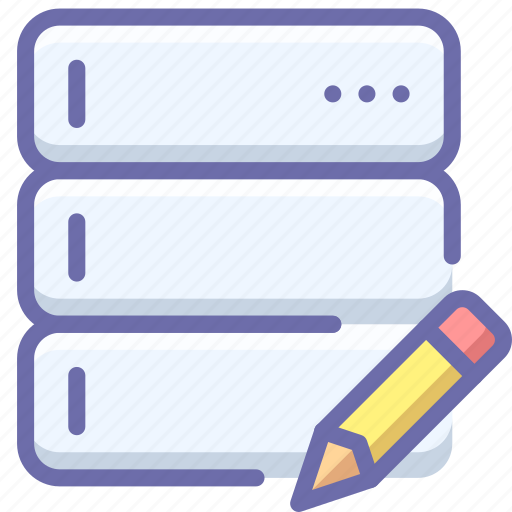 database, edit, server icon