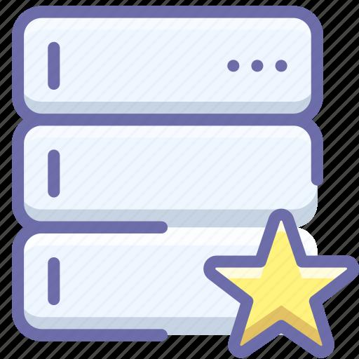 database, favorite, server icon