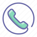 contact, phone, sign icon