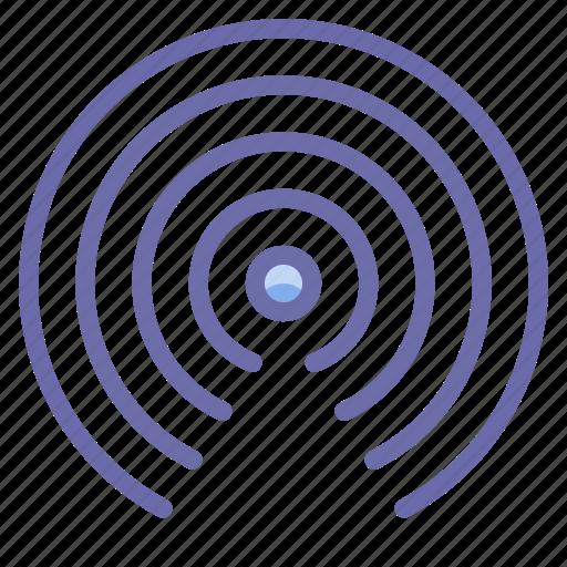 radio, signal, waves icon