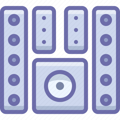 home theater, monitor, system icon