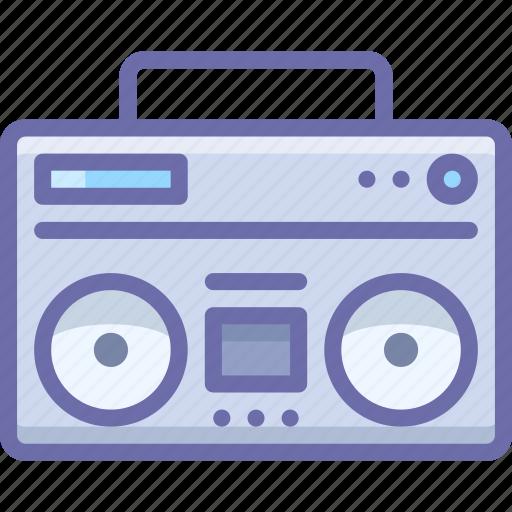 boombox, music, player icon