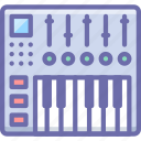 dj, keys, midi icon