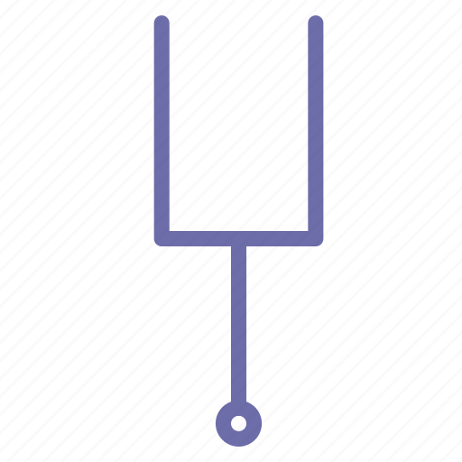 instrument, music, tuning fork icon